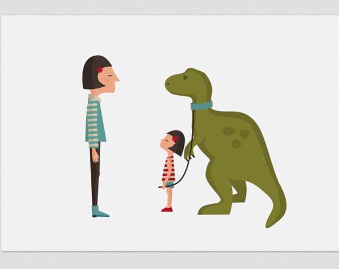 """Ilustración """" Dino """"."""