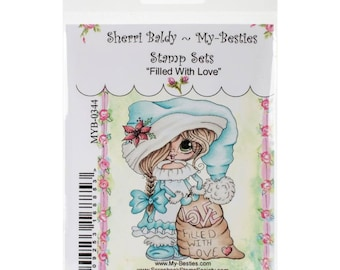 "CHRISTMAS FILLED with LOVE  - My BESTIEs by SHERRi BaLDY - ""Christmas Elf Stamp ""  Clear Stamp - New in Pkg."