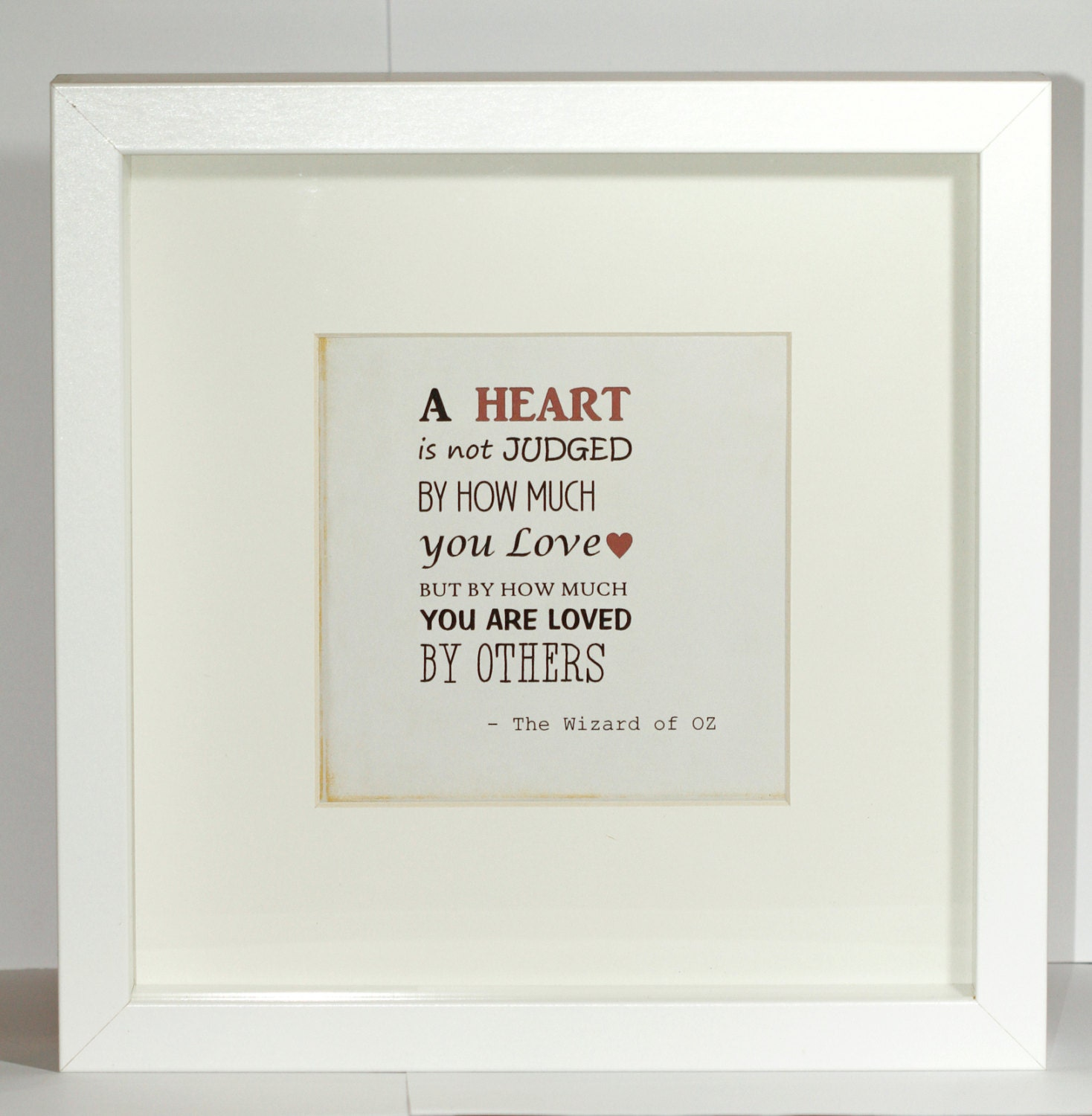 Love Quote Picture Frames Framed Love Quote Printlove Giftfathers Day Gifthouse
