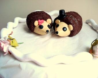 Hedgehog Cake Topper Bride and Groom Wedding Cake Topper Wedding Decoration Cake Decor Wedding Anniversary Cake Toppers
