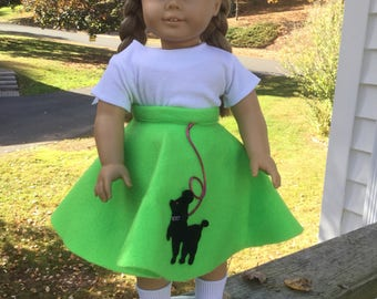 Poodle Skirt for 18 inch doll