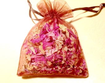 Aromatherapy Sachet, Aroma Flowers Sachet, Lavender Sachet, Rose Sachet, Dried Flowers