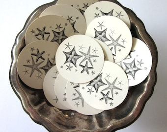 Starfish Tags Round Gift Tags Set of 10