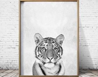 Arte digital imprime tigre tigre de impresión arte lindo guardería Animal Print