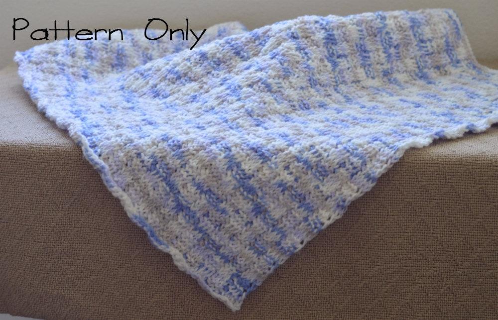 Baby Blanket Crochet Pattern, Baby Afghan Pattern, Tunisian Crochet ...