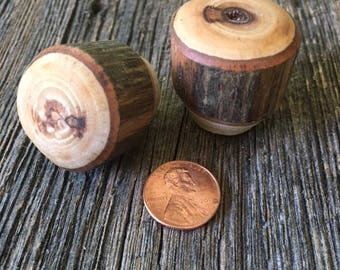 Rustic Furniture Drawer Knobs, Kitchen Cabinet Hardware, Hickory Wood  Drawer Knobs, Rustic Cabinet