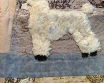 Paris poodle blanket