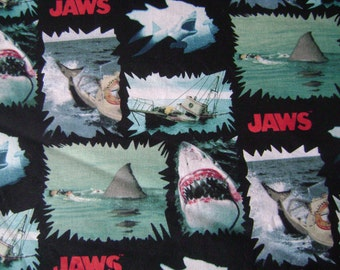 Jaws Shark Torn Patch Cotton (1.5 yards)