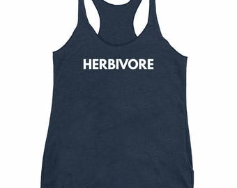 Herbivore Tank Top, Vegan, Herbivore Shirt, Tank Top,  Gift for Her, Yoga Tank, Yoga Shirt, Hippie Clothes, Vegan Tank Top, Vegan Shirt