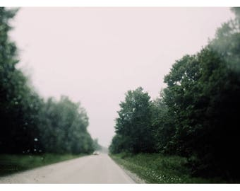 Travel Photograph - Landscape Photography - Street  Photograph - Lights- Bokeh - Fine Art Photograph - Driving Through The August Rain -Bock