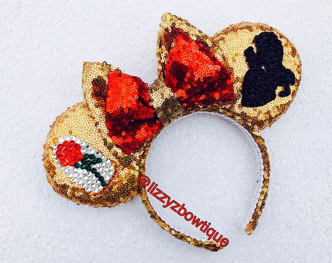 Beauty and the Beast Sequin Minnie ears