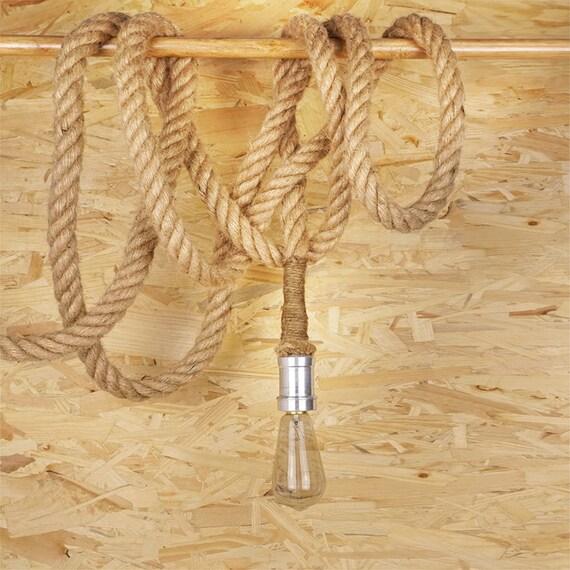 Dickes Seil Edison Lamp E27 Edison-Lampe hängen Licht