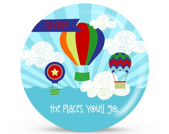 Personalized Plate -Balloon - Personalized Kids Plate