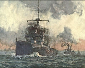 Poster, Many Sizes Available; Hms Dreadnought 1907 Painting Of Hms Dreadnought