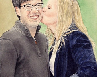 Custom Portrait- 2 Subjects-  Detailed- Realistic Painting|Drawing- From Your Favorite Photo