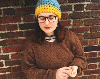 Blue and Yellow Hat