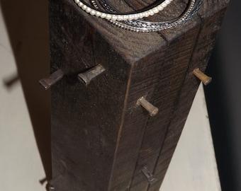 Wood jewelry stand/Jewelry display rack/Jewelry holder/Jewelry organizer