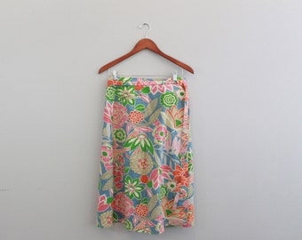 Vintage High Rise Floral Skirt by Saks Fifth Avenue Sportswear