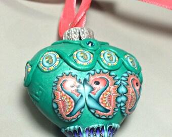 Seahorse christmas ornament, beach ornament, ocean, beach, seahorse, Christmas tree Ornament, tree ornament, holiday decor