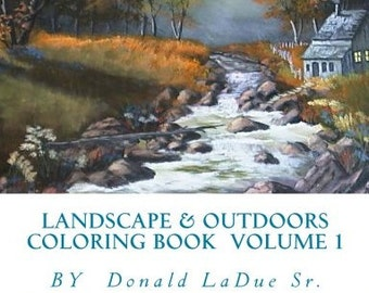Landscape & Outdoors Adult Coloring Book