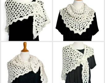 Crochet Pattern for Parisian Wrap, Shawl, Scarf, Cowl, 17-344