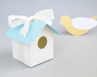 Bird House Favor Box Set of 12