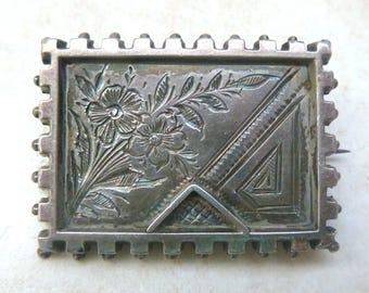 Antique Brooch, Victorian Brooch, Primrose Flower Brooch.