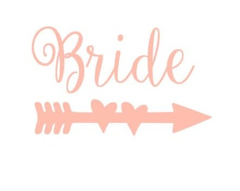 Bride Hearts Arrow instant download cut file for cutting machines - SVG DXF EPS ps Studio3 Studio