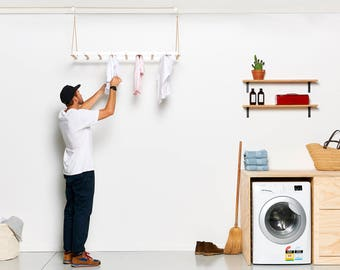 George & Willy Hanging Drying Rack - White