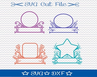 Monogram Frames SVG / SVG Cut File for Silhouette / Monogram svg file / Alphabet svg