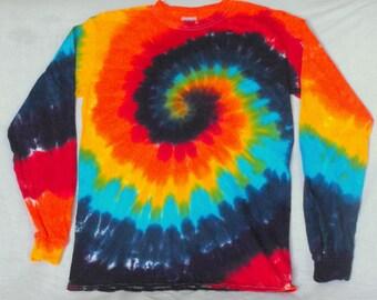 Rainbow Tie Dyed Long Sleeve T Shirt