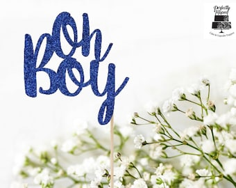 Oh Boy Cake Topper - Baby Shower Cake Topper - Baby Shower Decor