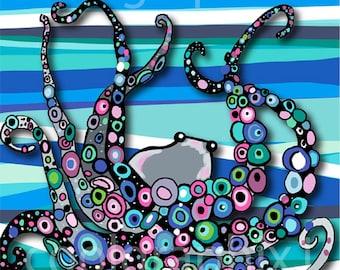 Octopus Original Print, Digital File for Print, JPEG file, Original Art Print, Digital Art, Octopus Digital, Printable, Original