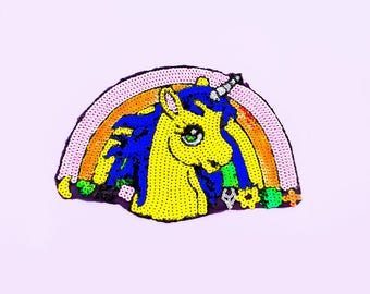 Large Harajuku Unicorn Back Patch - Kawaii Patch - Jean Jacket Patch - Rave Jacket - Unicorn Patch - Rainbow Patch - LGBT - Flower Patch