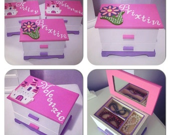 Kids jewelry box girls jewelry box personalized kids