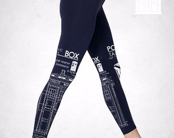 Tardis Box Doctor Who leggings Navy Blue