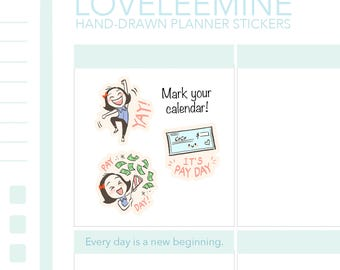 CoCo Pay Day, Pay Check, Cash Planner Stickers