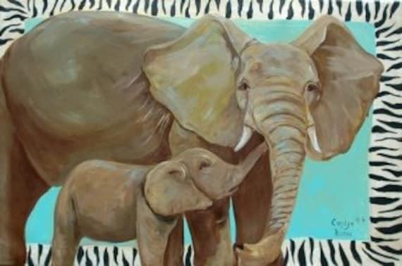 The Big Safari Elephant Painting