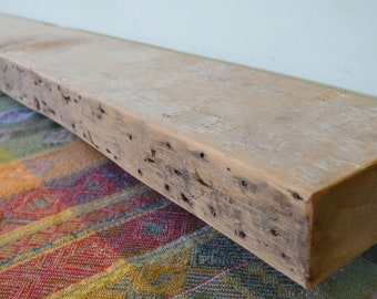 "Reclaimed Wood Mantel 66"" x 7"" x 3"" Fireplace Mantle Shelf Barnwood Shelving Rustic Distressed Barn Beam Antique 1700s 1800s"