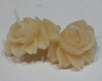 Set of 2 Small Flower Tealight Candles