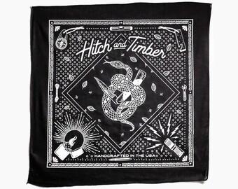 Hitch & Timber Snake Bandana ~ Handkerchief ~ Made in USA