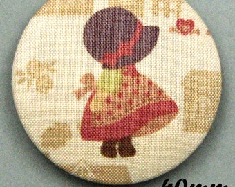Fabric - Sunbonnet - covered button Sunbonnet Sue (40-08)
