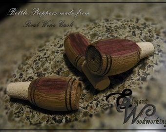 Wine Cask Bottle Stopper -Custom Built Wedding Favors Made from Wine Barrels (Even Barrels From Your Wedding Wine)