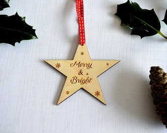 Merry & Bright Christmas Tree Decoration