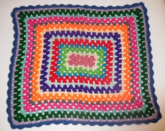crochet baby afghan, granny square afghan, baby blanket, baby shower gift, newborn