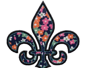"Fleur de Lis Appliques Machine Embroidery Designs Applique Pattern in 3 sizes 4"", 5"" and 6"""