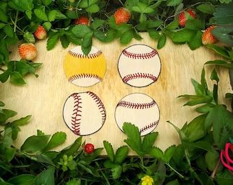 Baseball base balls SVG layered layers stitches colours - smooth handdrawn sport htv shirt design cuttable silhouette cricut scanncut