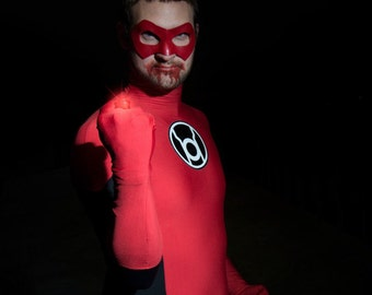 Green Lantern inspired superhero mask