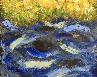 Riverbank ORIGINAL PAINTING