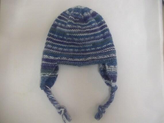Pdf Knitting Pattern Earflap Trapper Hat Helmet Cap To Knit In